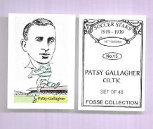 Glasgow Celtic Patsy Gallagher Ireland 15 (FC)